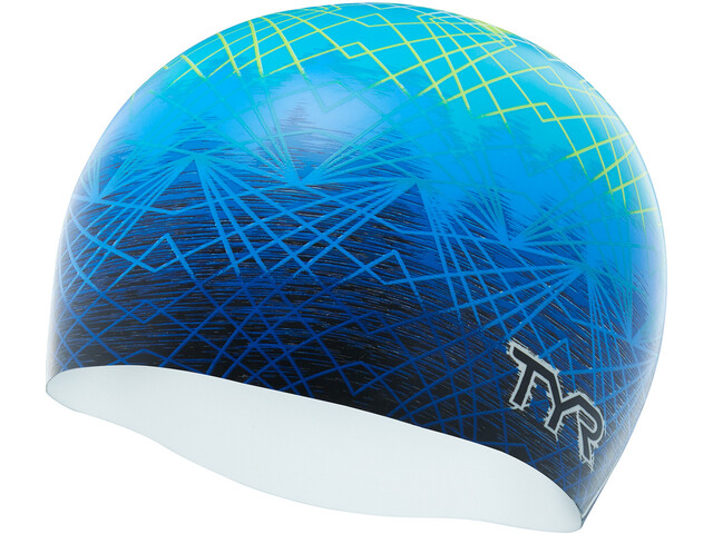 TYR Slow Fade Gorros de natación, blue/yellow